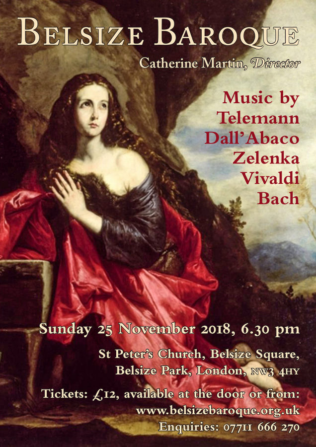 Belsize Baroque Concert September 2018
