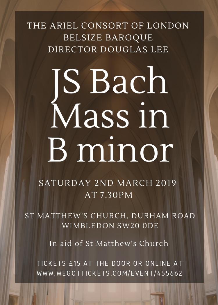Belsize Baroque Concert March 2019