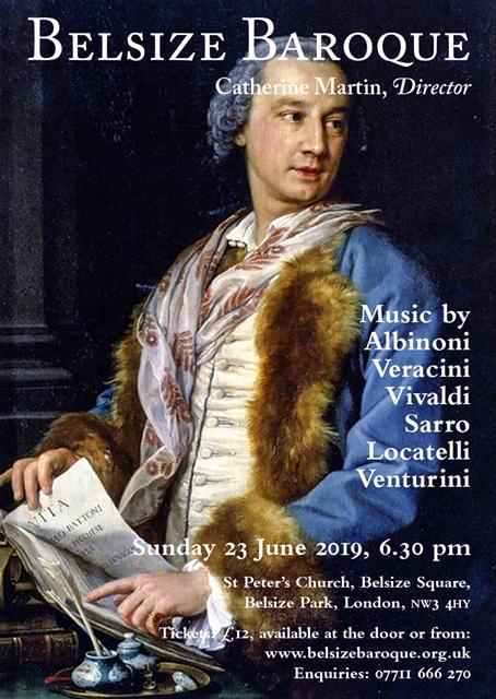 Belsize Baroque Concert June 2019