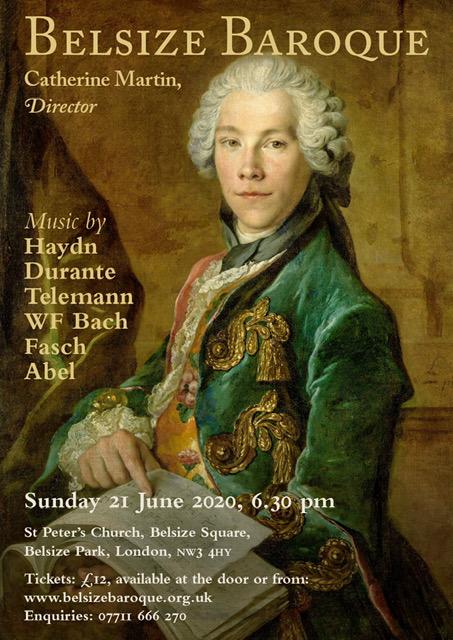 Belsize Baroque Concert June 2020